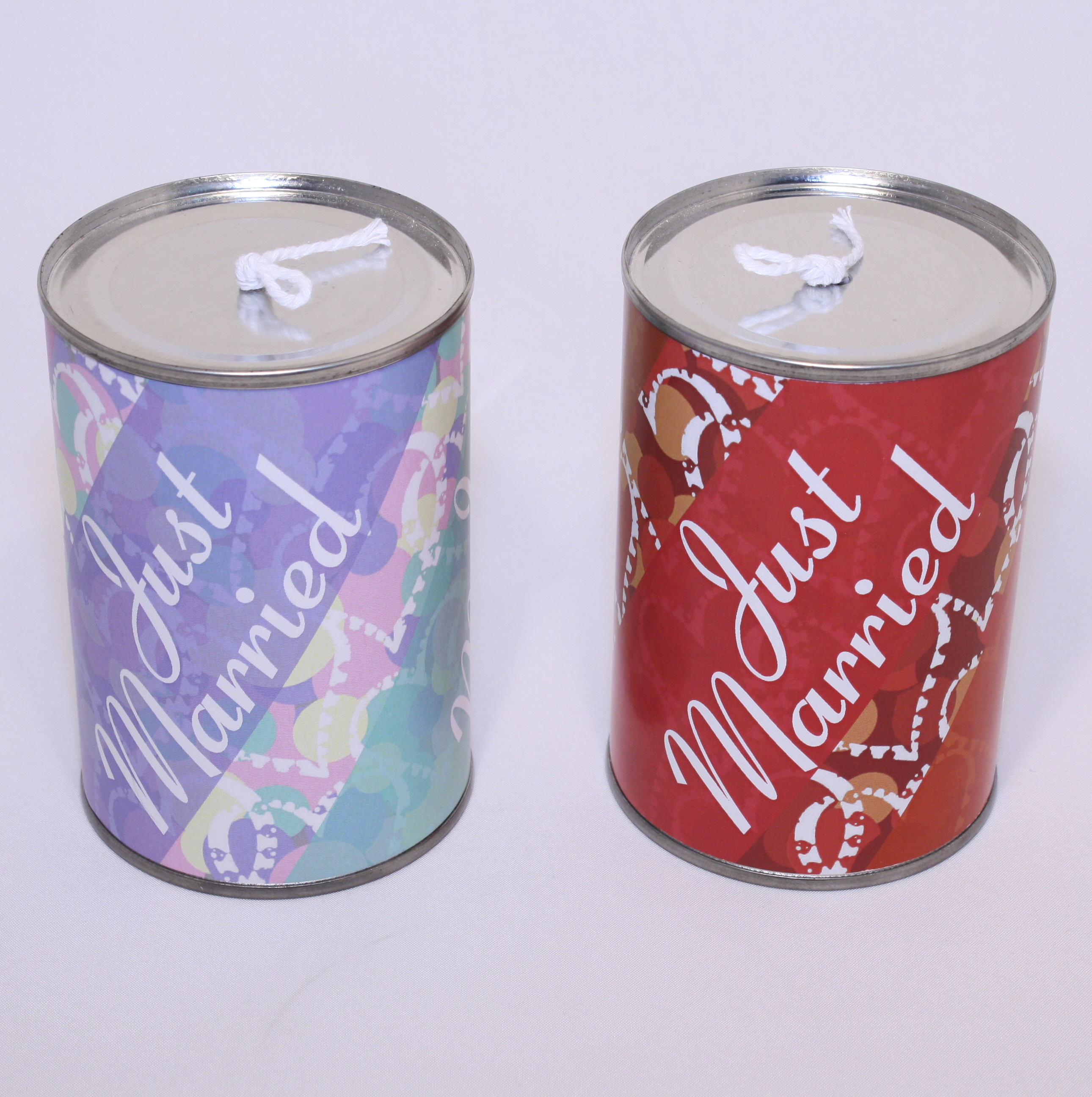 tin can decorations for wedding car