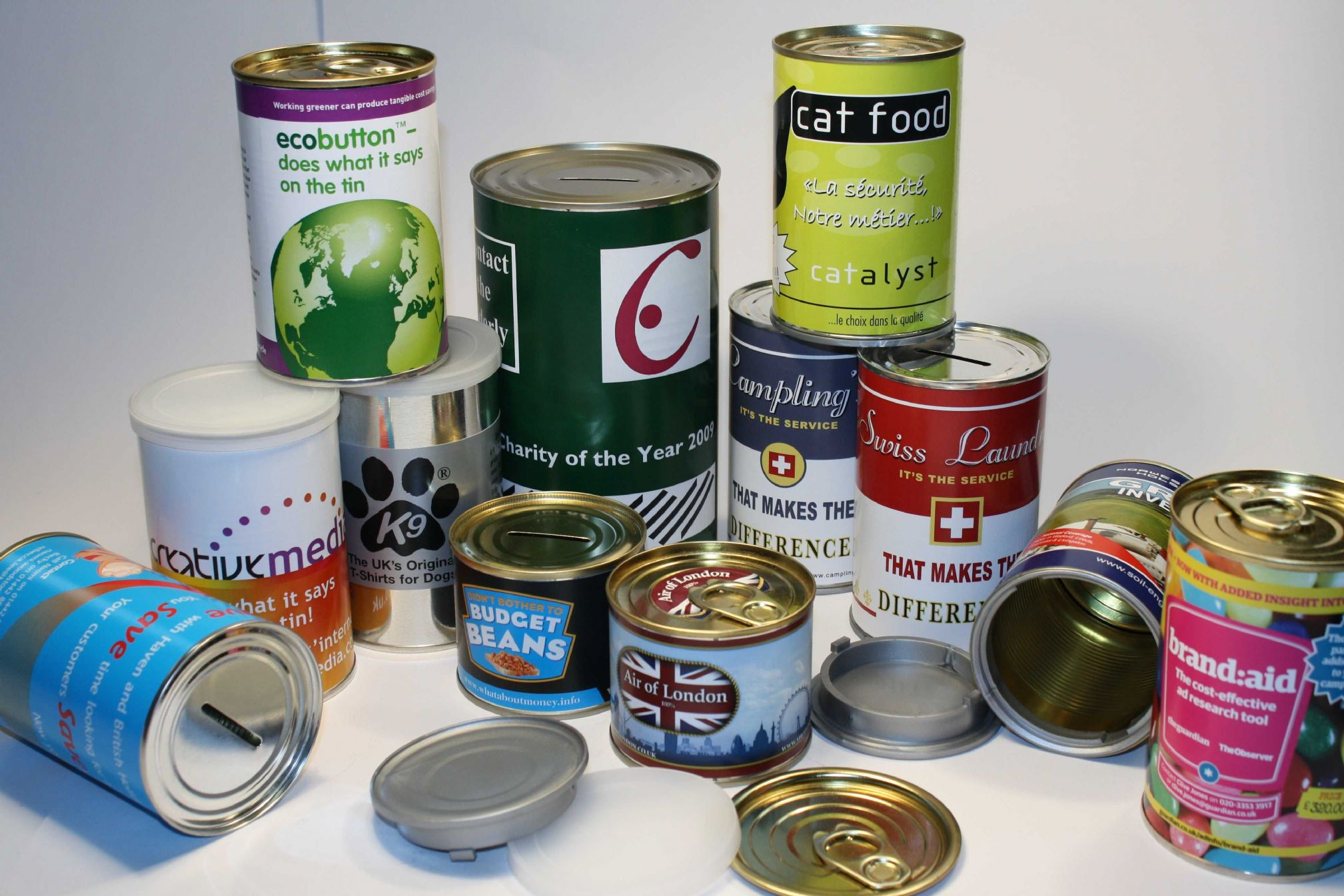 Tin can product range